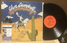 Glen Campbell Rhinestone Cowboy Signed Vinyl Record W/ Coa Jsa S62846