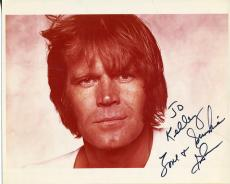 Glen Campbell Rhinestone Cowboy Singer / True Grit Actor Signed Photo Autograph