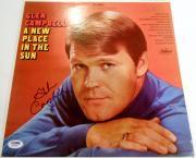 Glen Campbell Signed Album w/COA LP Country Legend Rhinestone Cowboy #1