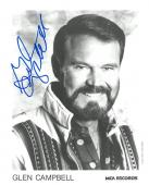 Glen Campbell Signed Authentic Autographed 8x10 B/W Photo PSA/DNA #AD14888
