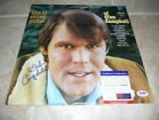 Glen Campbell Signed Autographed 12 String Guitar LP Album Record PSA Certified