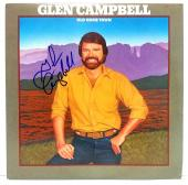 "GLEN CAMPBELL Signed Autographed ""Old Home Town"" Album LP PSA/DNA #Y67100"
