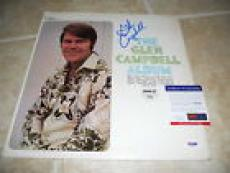 Glen Campbell Signed Autographed The Glen Campbell LP Album Record PSA Certified