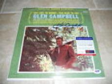 Glen Campbell Signed Autographed Too Late To Worry LP Album Record PSA Certified