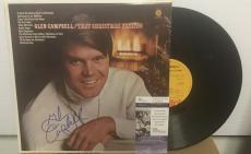 """Glen Campbell """"that Christmas Feeling"""" Signed Vinyl Lp Record Jsa S62844"""