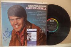 Glen Campbell Wichita Lineman Country Great Signed Autograph Album Jsa S62845