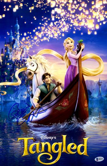 "Glen Keane Autographed 12"" x 18"" Disney's Tangled Movie Poster - Beckett COA"