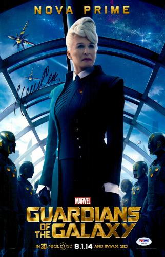 "Glenn Close Autographed 11"" x 17"" Guardians Of The Galaxy Movie Poster - PSA/DNACOA"