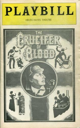 Glenn Close Paxton Whitehead Sherlock Holmes The Crucifer Of Blood 1978 Playbill