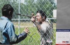 GLENN RHEE!!! Steven Yeun Signed THE WALKING DEAD 8x10 Photo #1 PSA/DNA