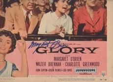 GLORY signed MARGARET O'BRIEN - original lobby card 1955