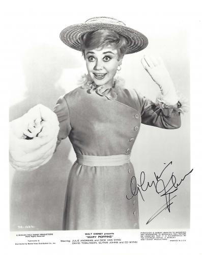 "GLYNIS JOHNS as Mrs. BANKS in 1964 Movie ""MARY POPPINS"" Signed 8x10 B/W Photo"