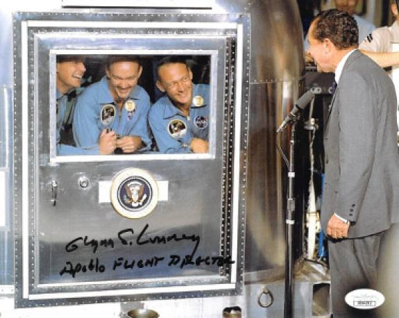 Glynn Lunney signed Color 8x10 Photo Apollo 11 Flight Director- JSA Hologram #DD64262 (Richard Nixon)