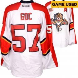 Marcel Goc Florida Panthers Game-Used 2013-14 Set 1 White Jersey