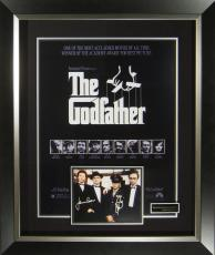 Godfather Al Pacino & James Caan Signed Poster Framed