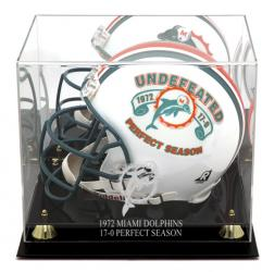 Miami Dolphins Golden Classic 1972 Commemorative Logo Helmet Case with Mirror Back - Mounted Memories