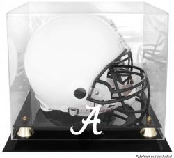 Alabama Crimson Tide Golden Classic Helmet Display Case with Mirror Back