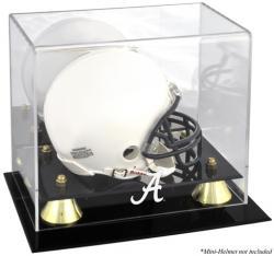 Alabama Crimson Tide Golden Classic Logo Mini Helmet Display Case