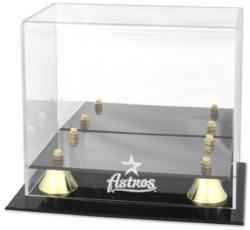 Houston Astros Golden Classic Logo Mini Helmet Case - Mounted Memories