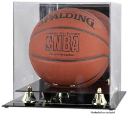 Golden Classic Basketball Display Case with Mirror Back - Mounted Memories  - Mounted Memories
