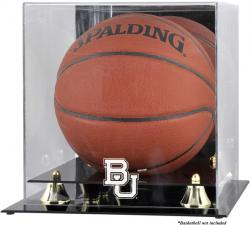 Baylor Bears Golden Classic Logo Basketball Display Case with Mirror Back - Mounted Memories
