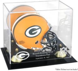Green Bay Packers Brett Favre Touchdown Mini Helmet Case - Mounted Memories