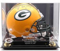 Green Bay Packers Brett Favre Record Breaker Helmet Display Case - Mounted Memories