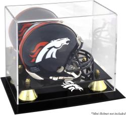 Denver Broncos Mini Helmet Display Case - Mounted Memories