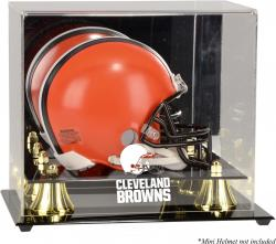 Cleveland Browns Mini Helmet Display Case - Mounted Memories