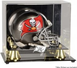 Tampa Bay Buccaneers Mini Helmet Display Case - Mounted Memories