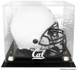 California Bears Golden Classic Logo Helmet Display Case with Mirrored Back
