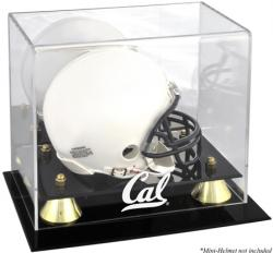 California Bears Golden Classic Logo Mini Helmet Display Case - Mounted Memories