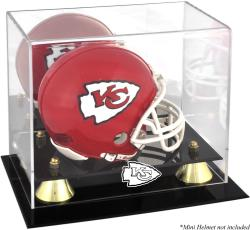 Kansas City Chiefs Mini Helmet Display Case - Mounted Memories