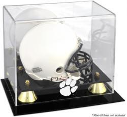 Clemson Tigers Golden Classic Logo Mini Helmet Display Case
