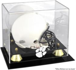 Clemson Tigers Golden Classic Logo Mini Helmet Display Case
