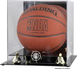 Los Angeles Clippers Golden Classic Team Logo Basketball Display Case