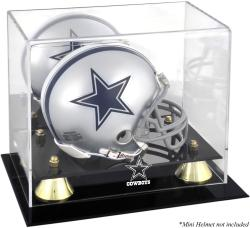 Dallas Cowboys Mini Helmet Display Case - Mounted Memories