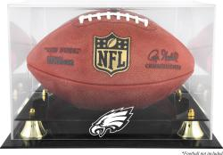Philadelphia Eagles Team Logo Football Display Case - Mounted Memories