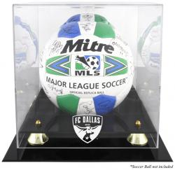 FC Dallas Logo Golden Classic Soccer Ball Display Case