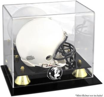 Florida State Seminoles Golden Classic Logo Mini Helmet Display Case - Mounted Memories