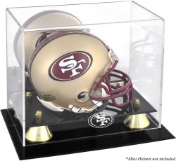 San Francisco 49ers Mini Helmet Display Case - Mounted Memories