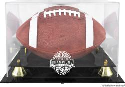 Florida State Seminoles (FSU) 2013 BCS National Champions Golden Classic Logo Football Display Case with Mirror Back