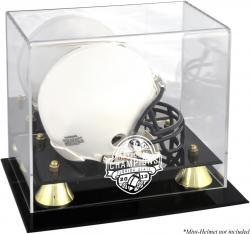 Florida State Seminoles (FSU) 2013 BCS National Champions Golden Classic Logo Mini Helmet Display Case with Mirror Back
