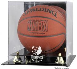 Memphis Grizzlies Golden Classic Team Logo Basketball Display Case - Mounted Memories