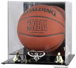 Atlanta Hawks Golden Classic Team Logo Basketball Display Case - Mounted Memories