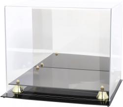 Golden Classic Football Helmet Display Case and Mirror Back