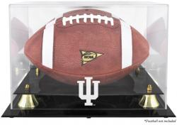 Indiana Hoosiers Golden Classic Logo Football Display Case with Mirror Back - Mounted Memories