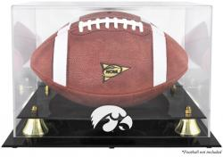 Iowa Hawkeyes Golden Classic Logo Football Display Case with Mirror Back - Mounted Memories
