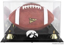 Iowa Hawkeyes Golden Classic Logo Football Display Case with Mirror Back