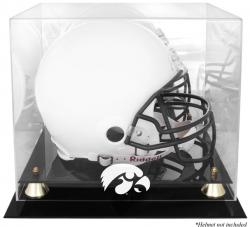 Iowa Hawkeyes Golden Classic Logo Helmet Display Case with Mirror Back